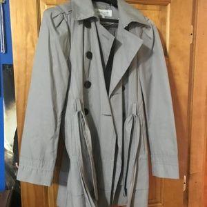 Black Rivet grey trench coat